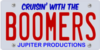 License Plate for Cruisin' with the Boomers